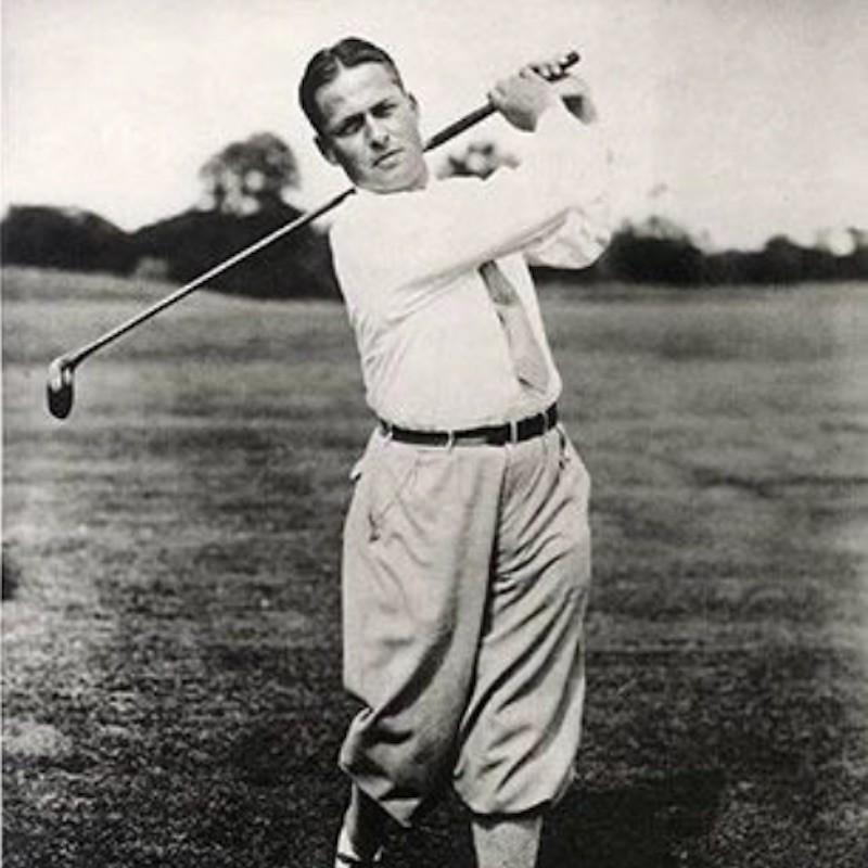Bobby Jones in posed golf image