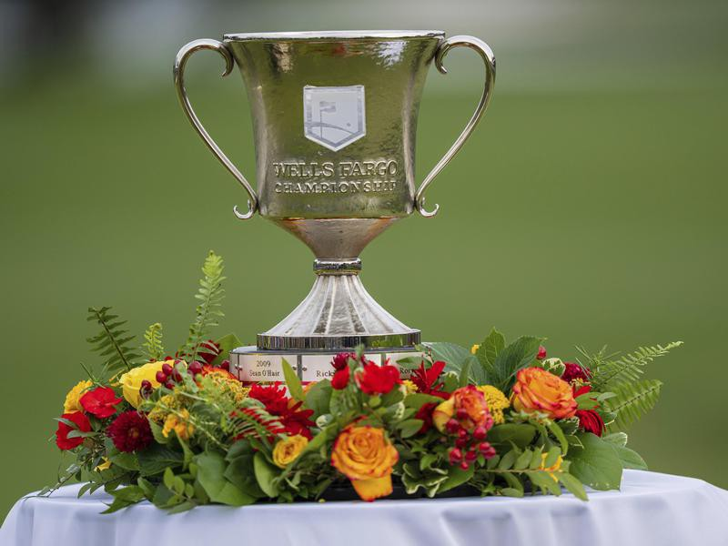 Wells Fargo Championship trophy