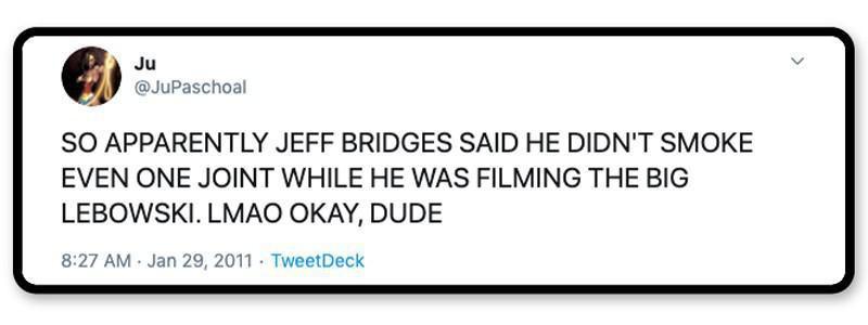 Jokes on the Dude?