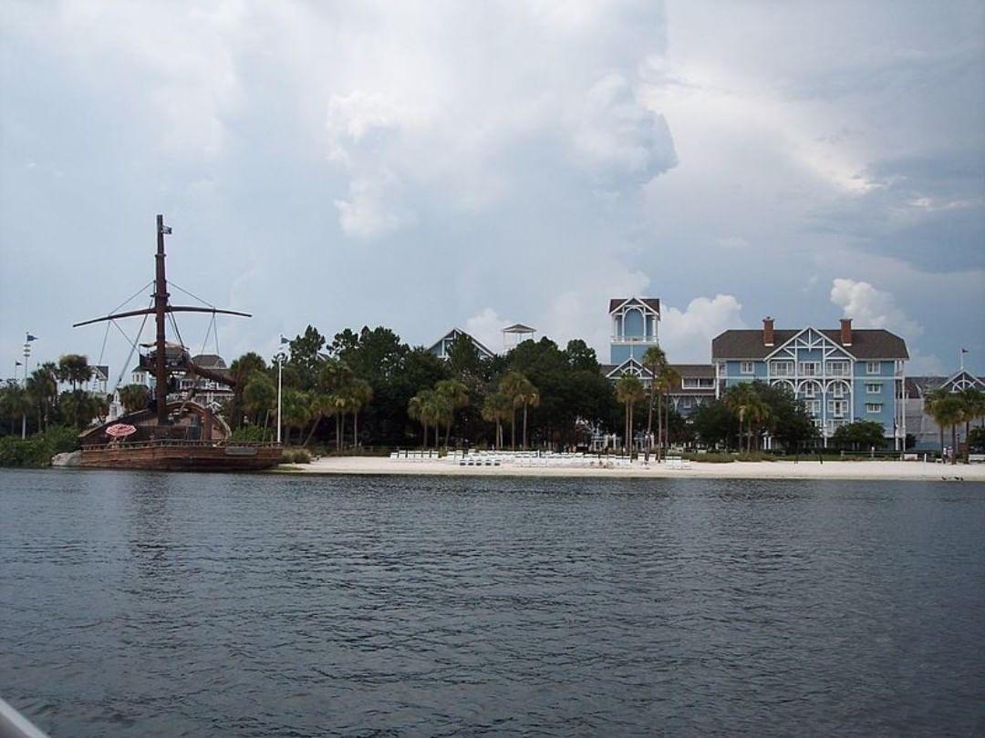 Water view of Disney's Beach Club Resort
