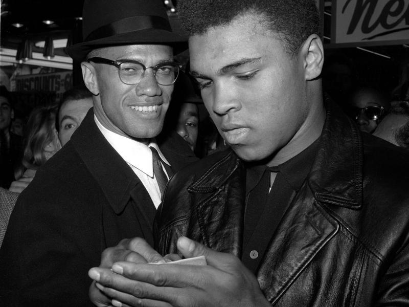 Malcolm X and Muhammad Ali