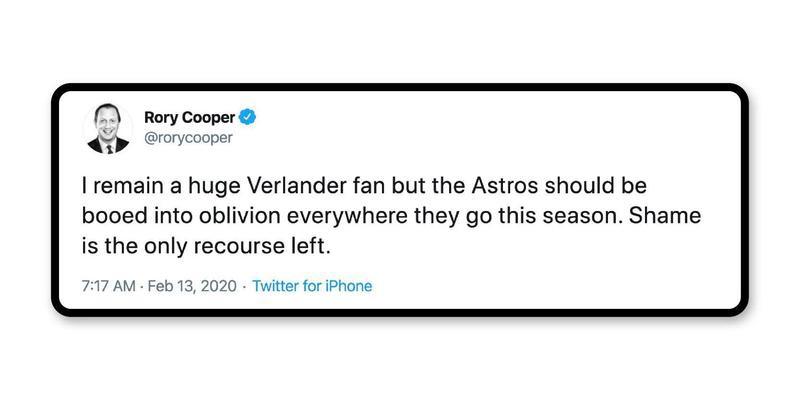 Shame on the Astros