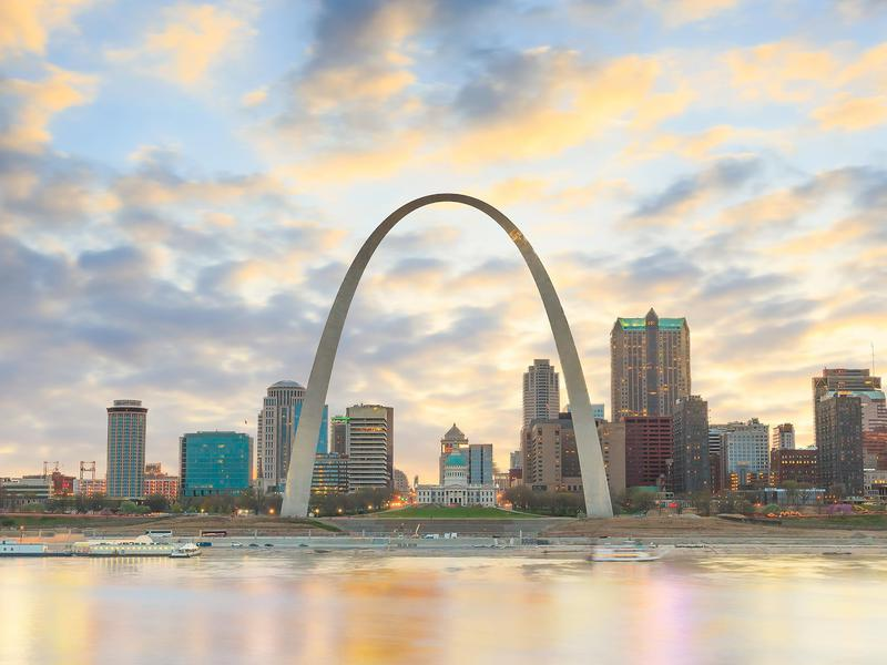 St. Louis, Missouri combines good salaries with low housing costs and striking architecture.