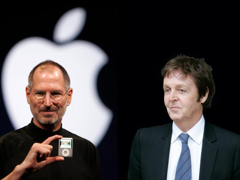 Steve Jobs and Paul McCartney