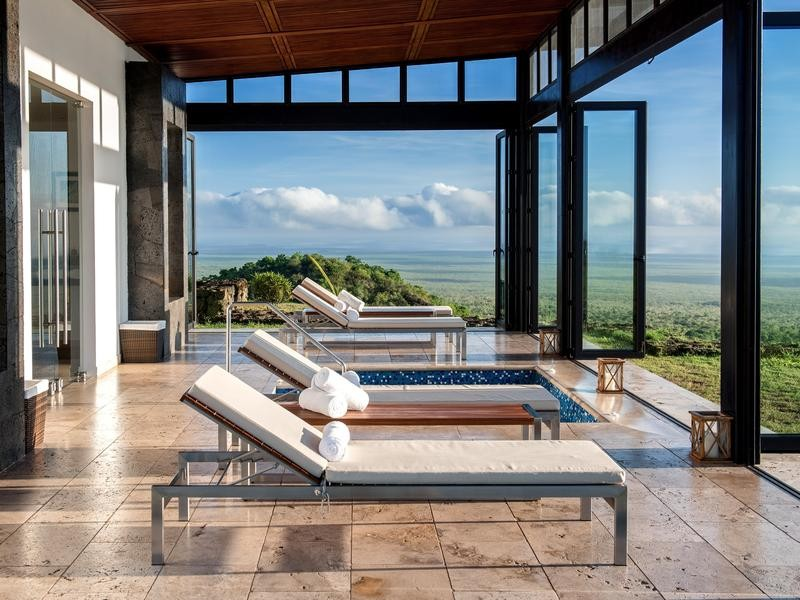 Luxury eco-resort in the Galapagos Islands