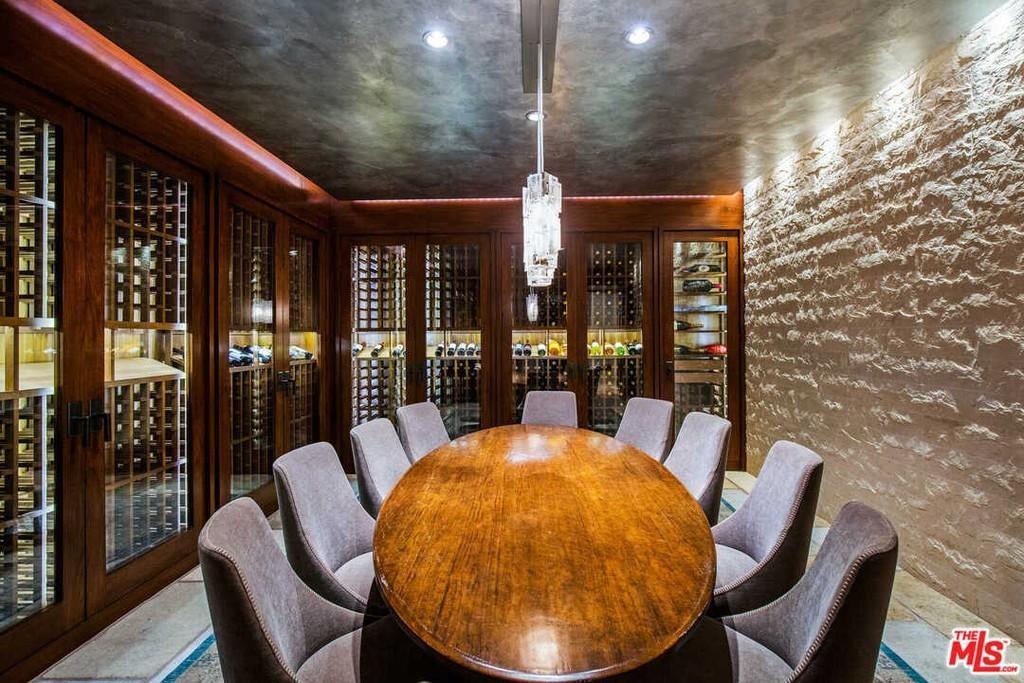 Matt Damon's wine room