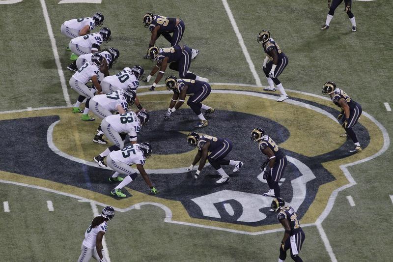 Rams Logo During Game