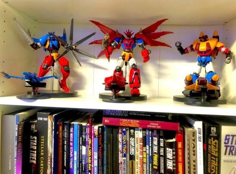 Deluxe Lion Set Voltron on a shelf