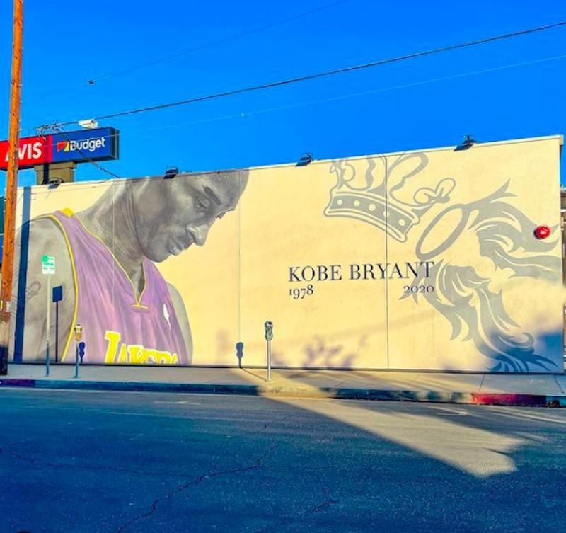 Kobe Bryant Mural in Tarzana