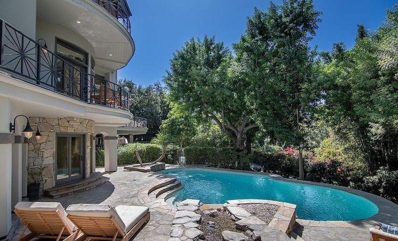 Selena Gomez's backyard