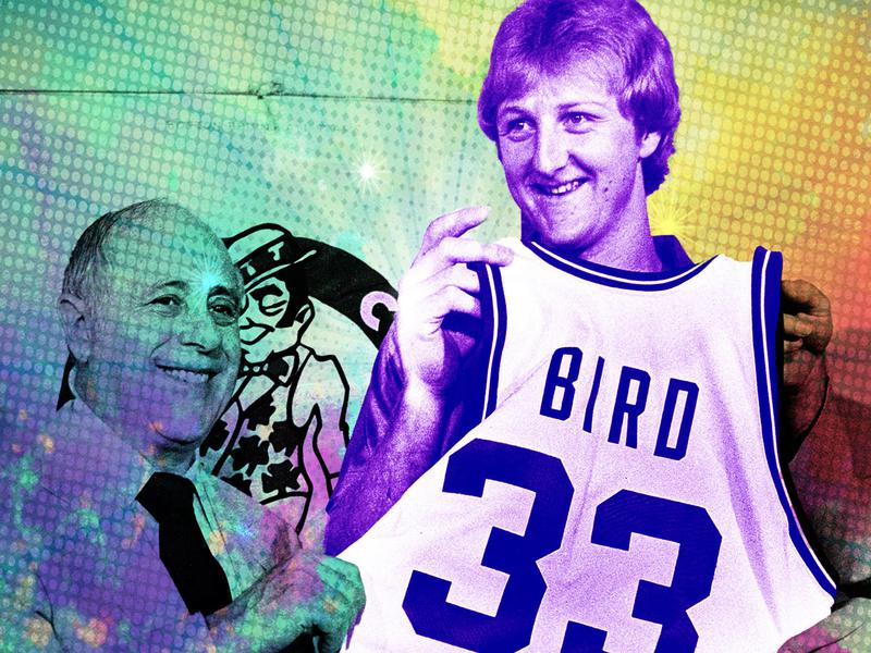Larry Bird and Red Auerbach