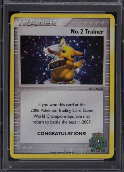 2006 Pokemon World Championships Promo No. 2 Trainer card