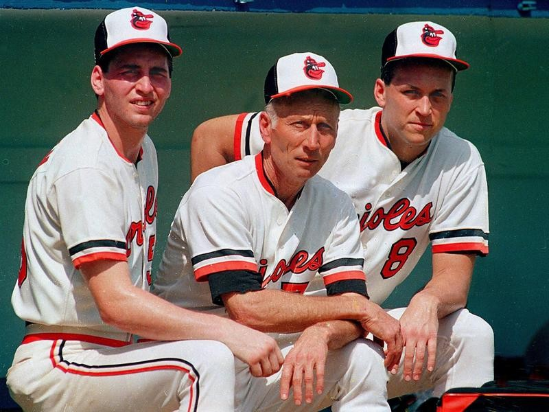 Cal Ripken Sr. with sons Cal Jr. and Billy