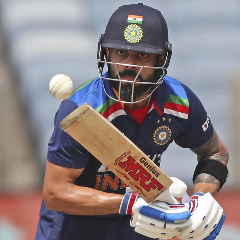 India's Virat Kohli bats