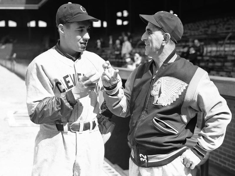 Bob Feller and Roger Peckinpaugh