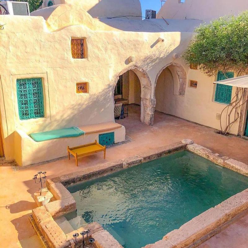 Rustic Backyard Pool in Tunisia