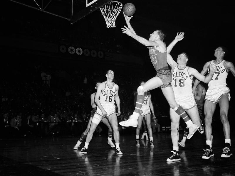 Boston Celtics center Bob Brannum