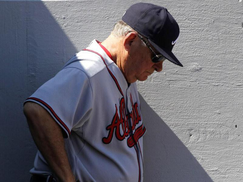 Bobby Cox looking down