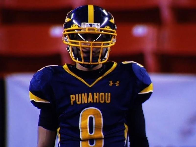 Punahou School wide receiver Kanawai Noa