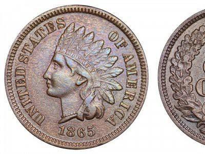 1865 Indian Head Coin