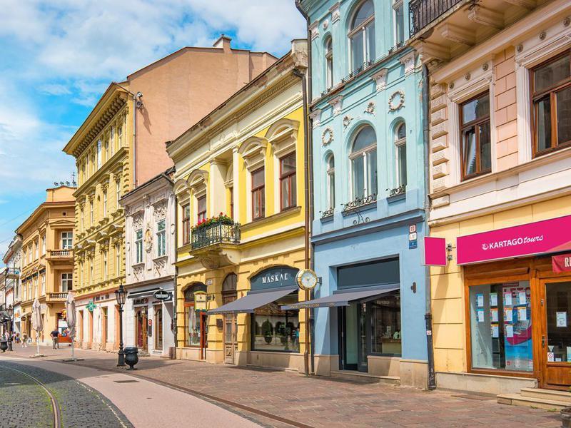 Downtown Kosice, Slovakia
