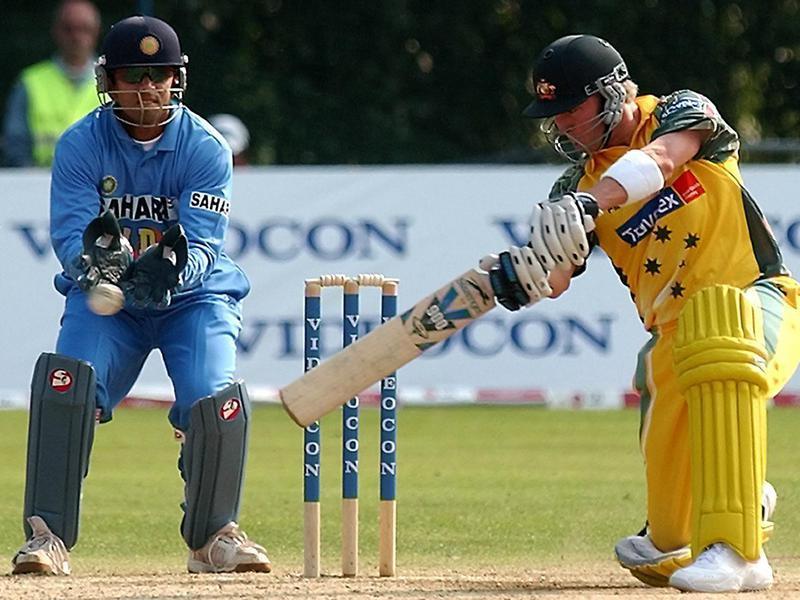 Australia's Michael Clarke bats the ball