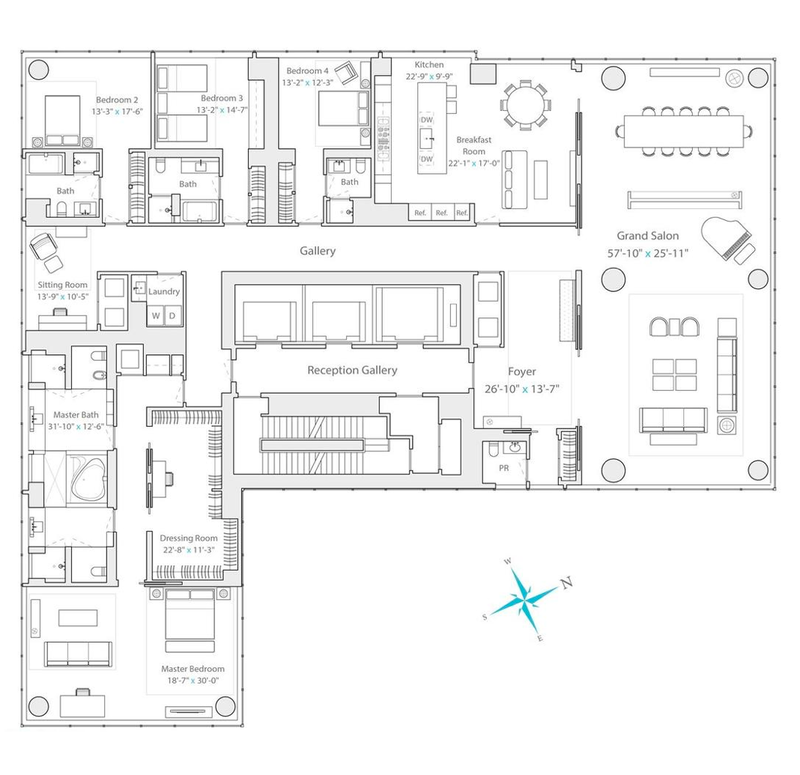 157 West 57th Street, Residence 77