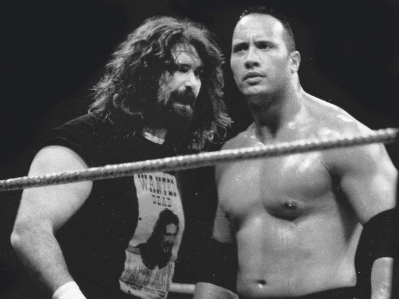 Mick Foley and The Rock