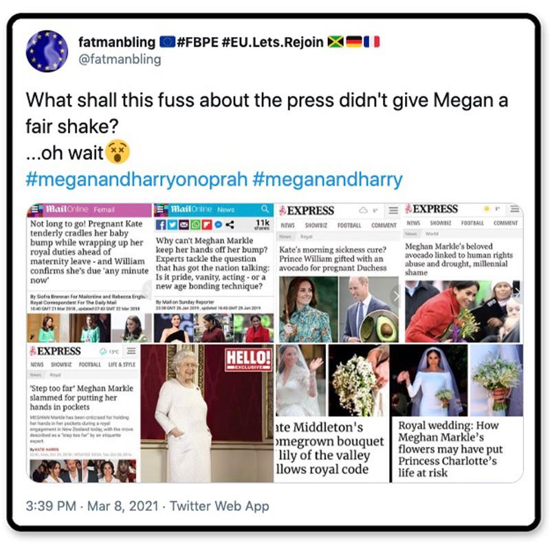 British press wasn't fair to Meghan