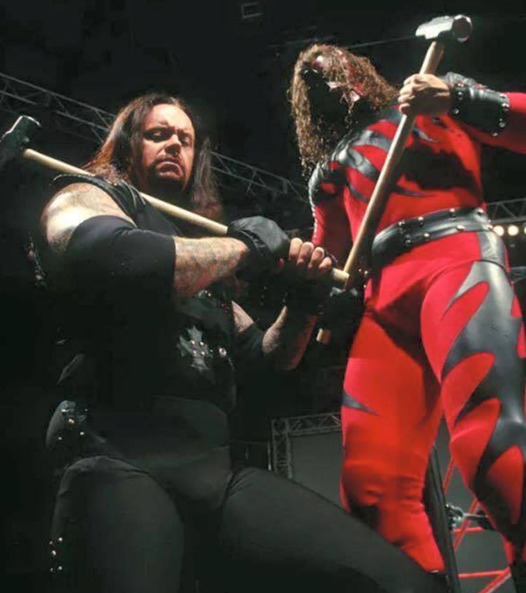 Undertaker and Kane as the Brothers of Destruction