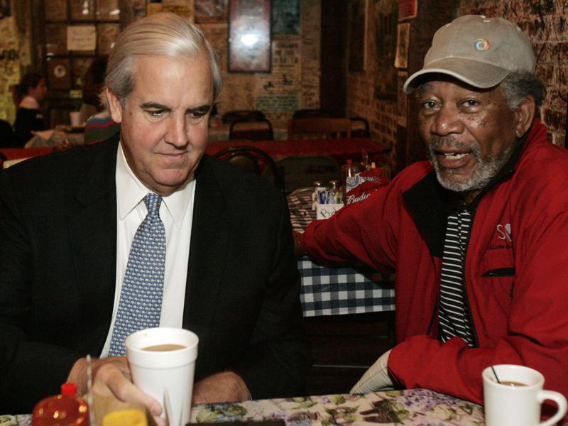 Morgan Freeman and his business partner Bill Luckett