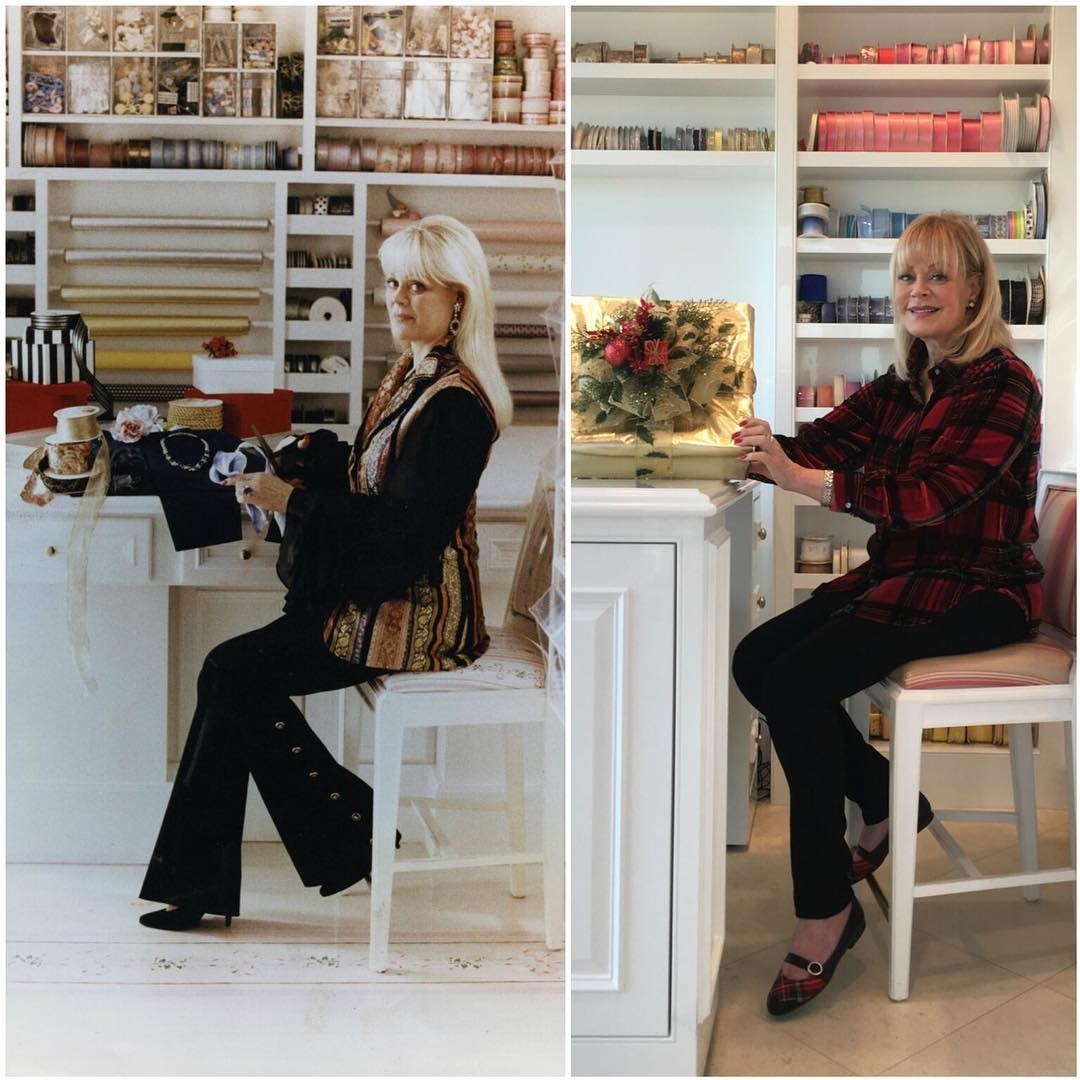 Candy Spelling's gift-wrapping room