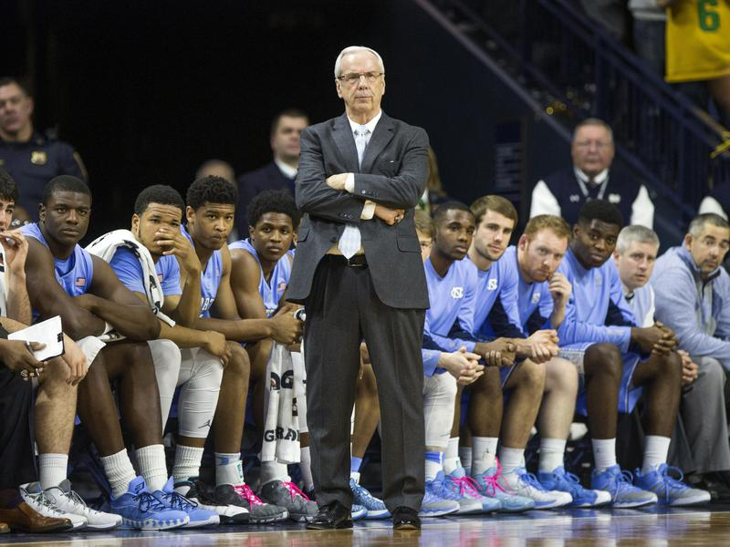 Roy Williams and UNC basketball team