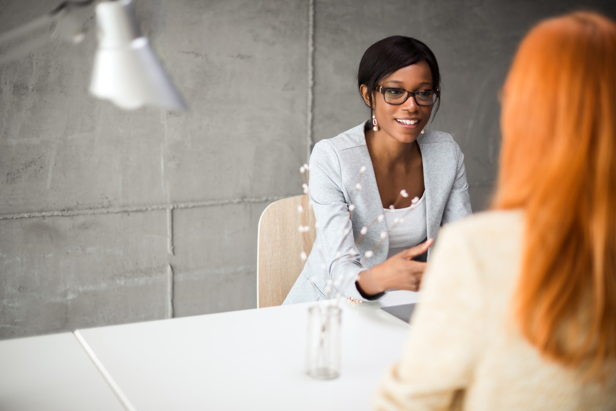 Woman interviewing another woman for a job