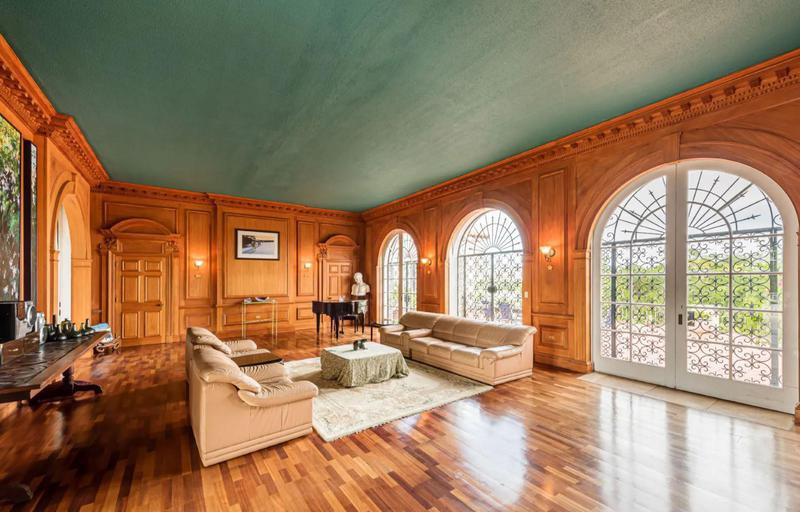 Large office with fancy woodwork
