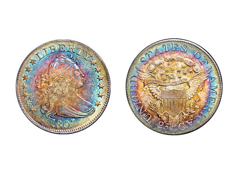 1807 B-2 Draped Bust Quarter
