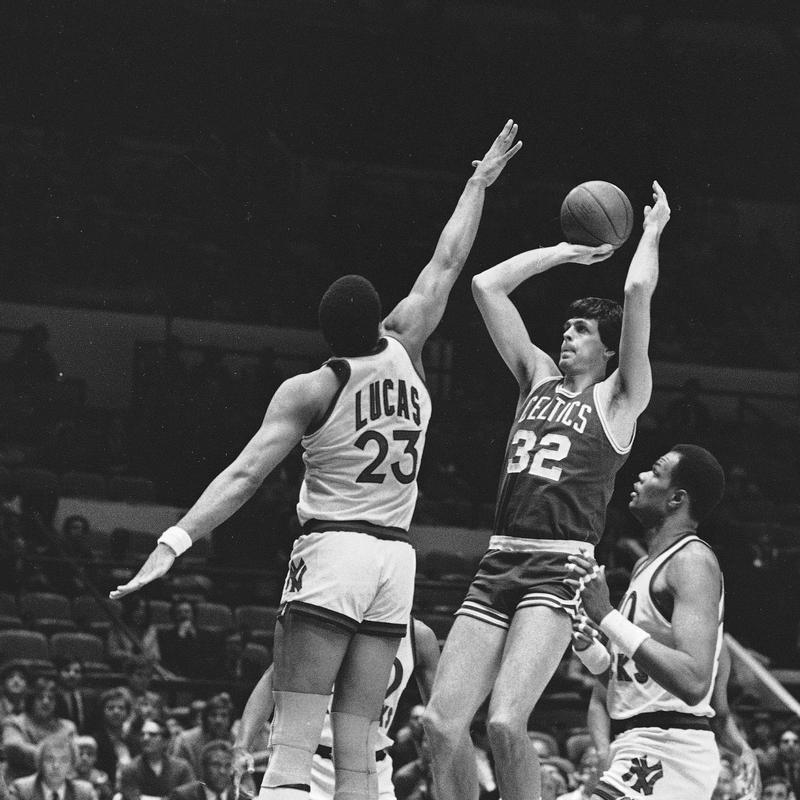 Boston Celtics' Kevin McHale goes up for a shot