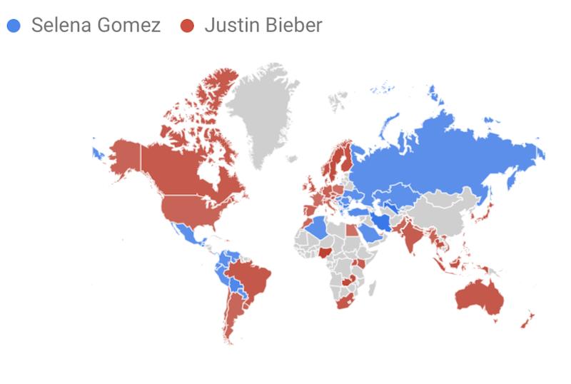 Selena vs Justin