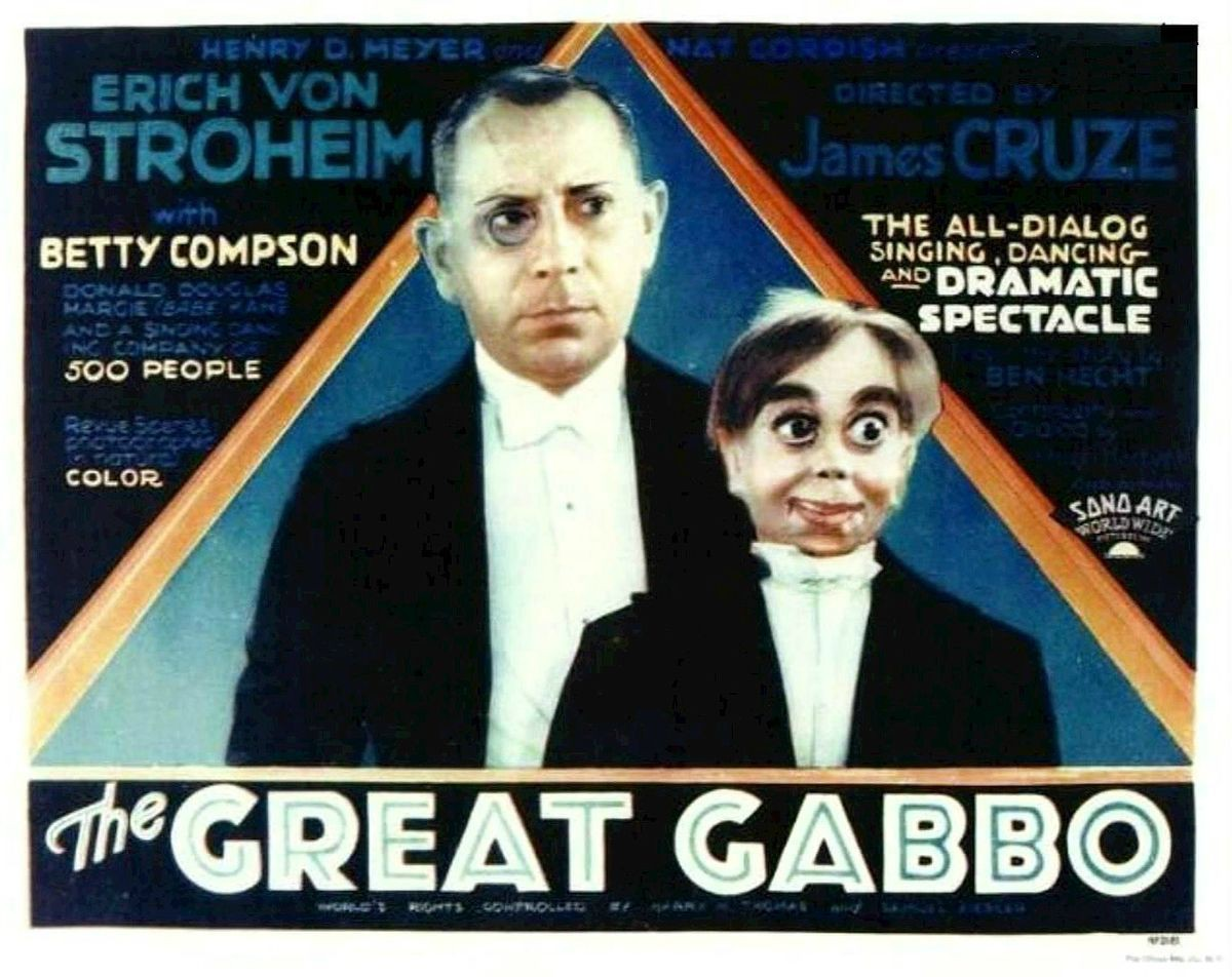 """An advert for """"The Great Gabbo"""""""