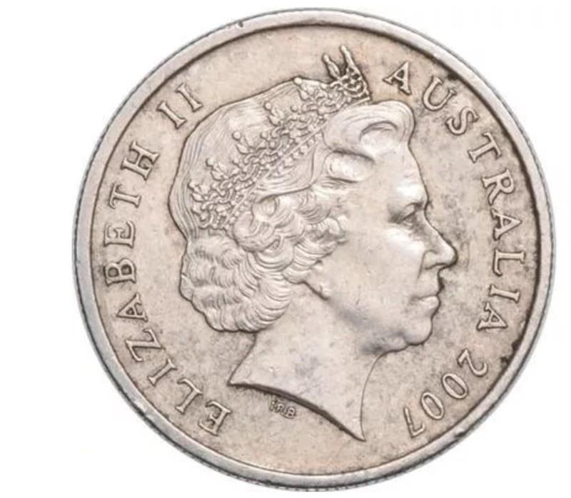 2007 Australian Double Obverse 5 Cent