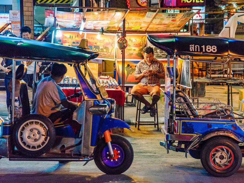 Food stand in Chiang Mai, Thailand