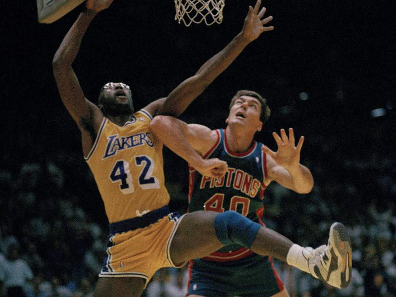 Bill Laimbeer and James Worthy