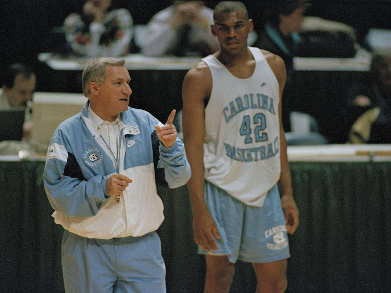 Dean Smith and Jerry Stackhouse