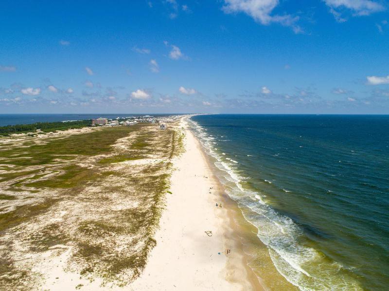 Fort Morgan Beach at Gulf Shores, Alabama