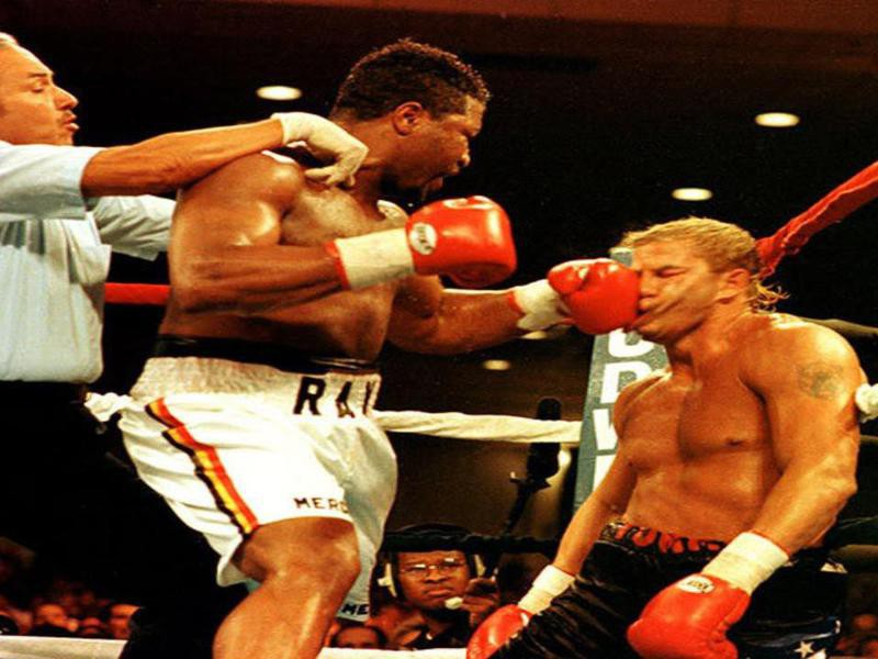 Ray Mercer and Tommy Morrison
