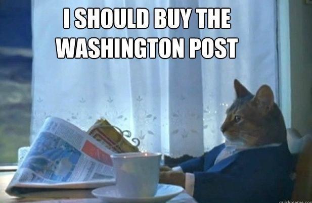 Cat wants The Washington Post