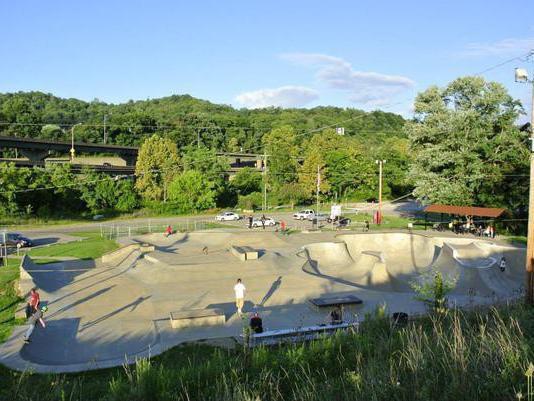 Skating at Wheeling Park in Wheeling, West Virginia