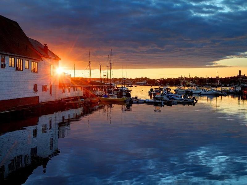 Sunset in Gloucester, Massachusetts