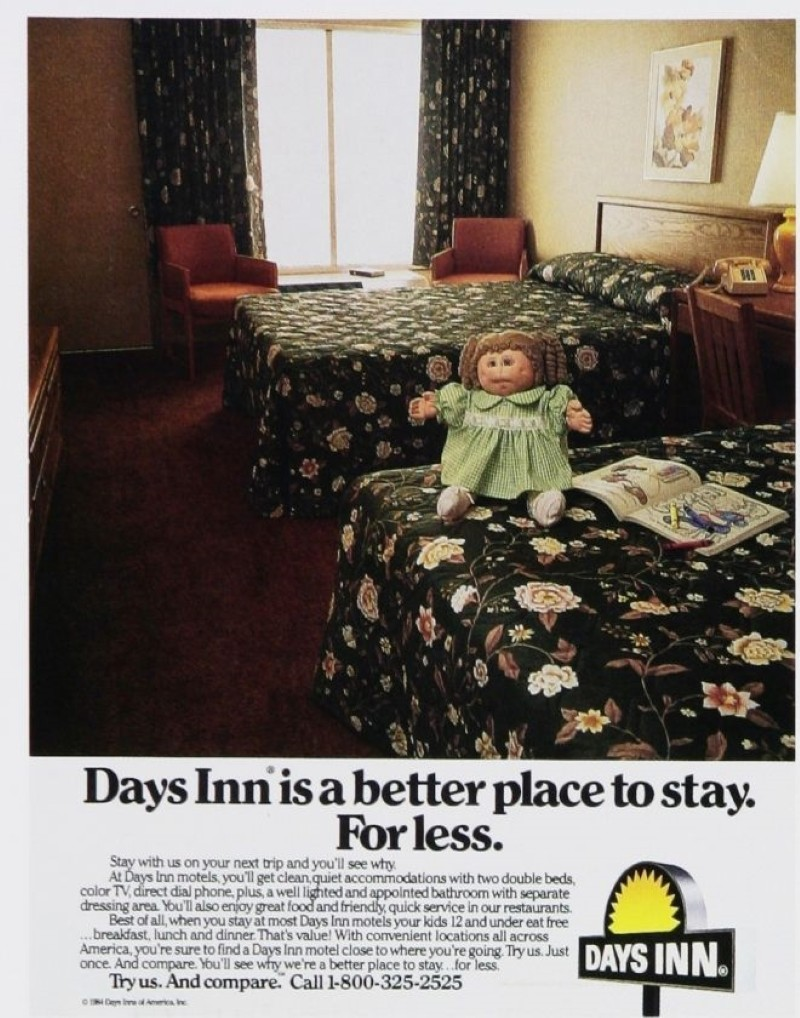 Vintage Days Inn ad from 1980s