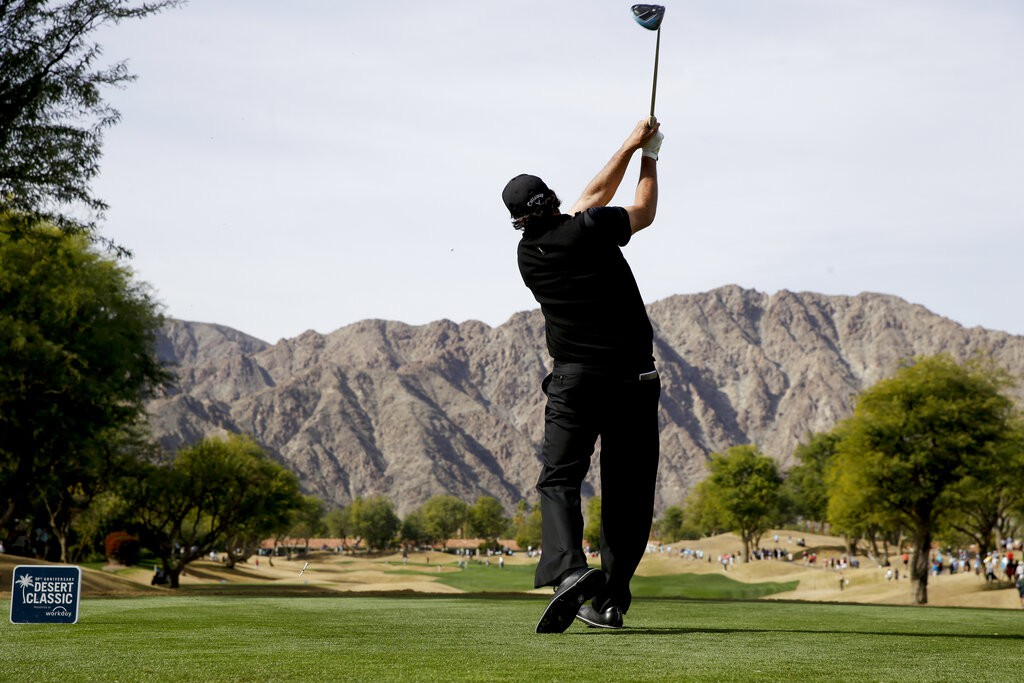 Phil Mickelson at the 2019 Desert Classic in La Quinta, California